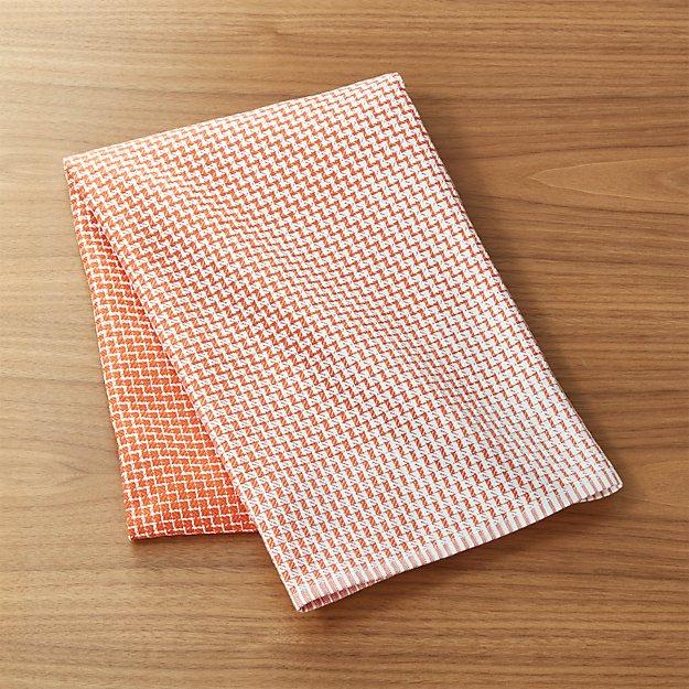 Elation Orange Dish Towel Reviews Crate And Barrel