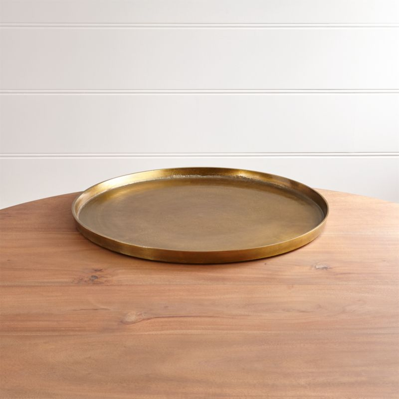 Element Metal Antiqued Brass Tray + Reviews