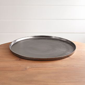 Element Metal Antiqued Pewter Tray