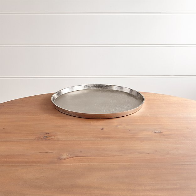 Element Metal Silver Tray - Image 1 of 13