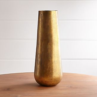 Element Metal Antiqued Brass Vase