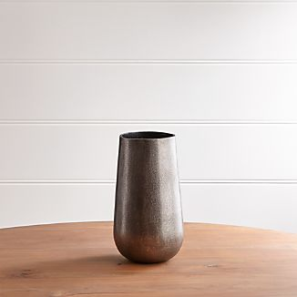 Element Metal Antiqued Pewter Vase
