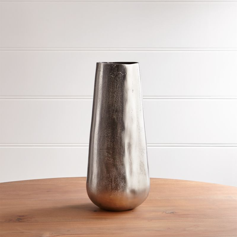 Element Metal Silver Vase Reviews Crate And Barrel