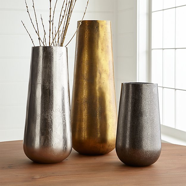 Element Metal Vases Crate And Barrel