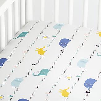 Organic Elephant Crib Fitted Sheet