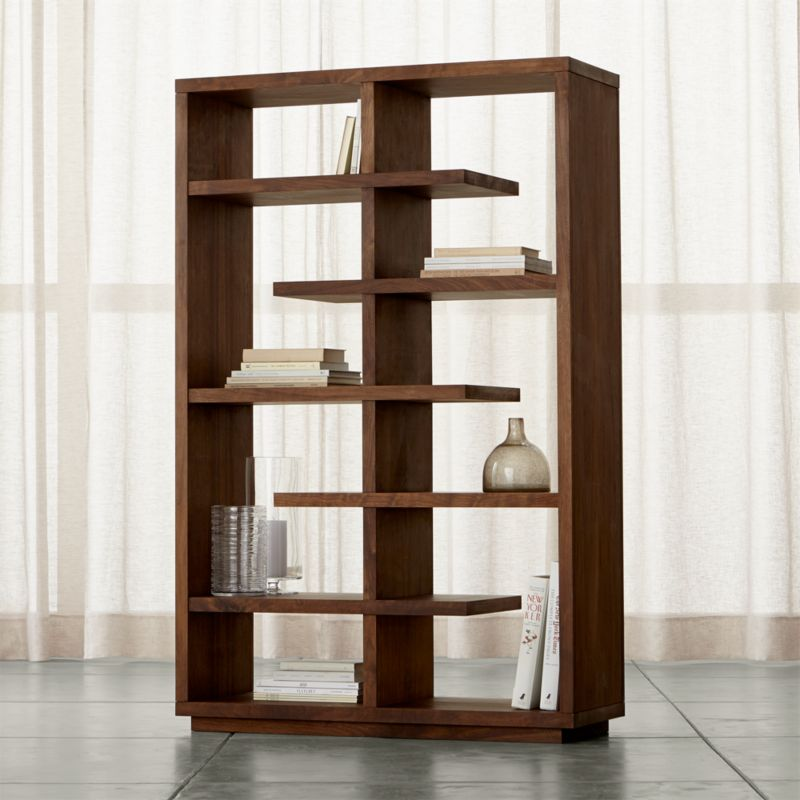 elevate walnut 68 bookcase