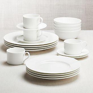 dinnerware sets stoneware bone china porcelain crate and barrel. Black Bedroom Furniture Sets. Home Design Ideas