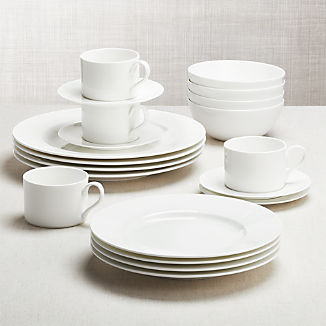 Black and White Collection 20-Piece Dinnerware Set