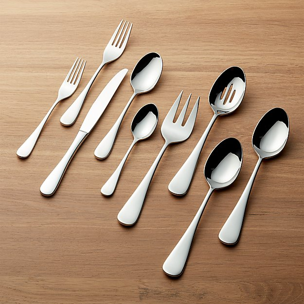Black and White Collection 52-Piece Flatware Set - Image 1 of 6
