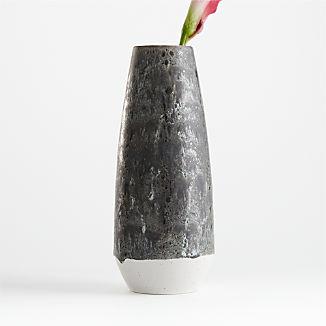Eli White and Grey Vase