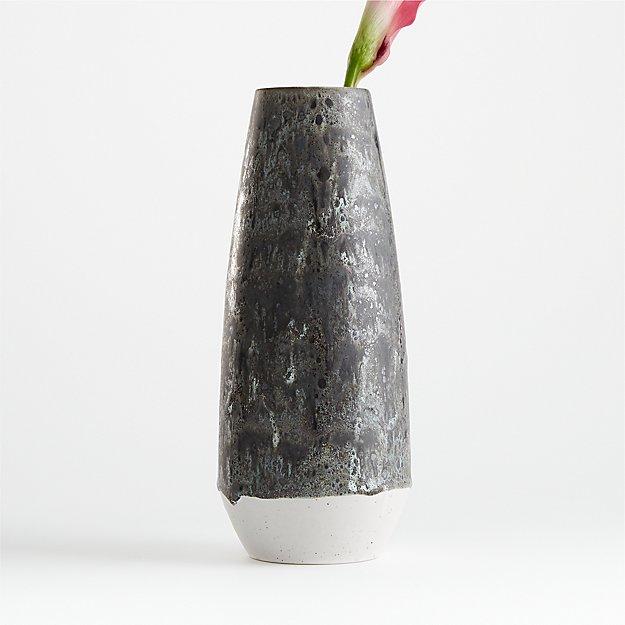 Eli White and Grey Vase - Image 1 of 3