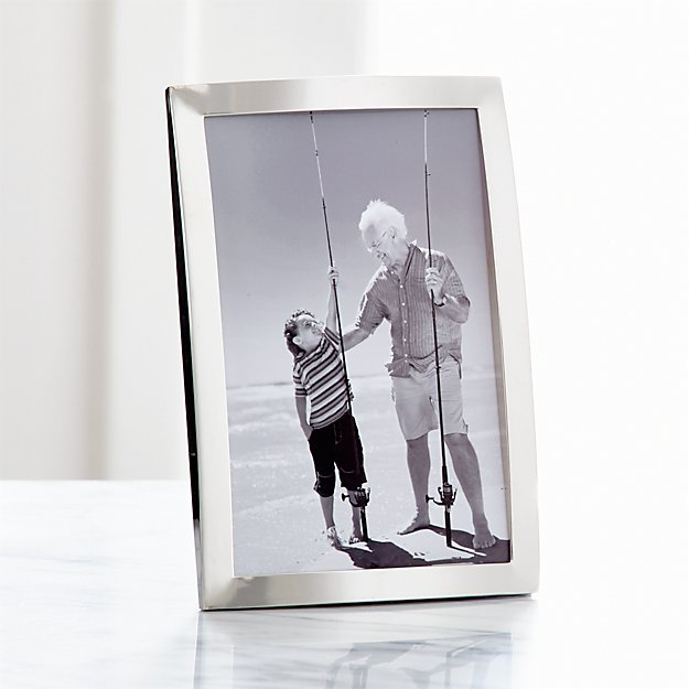 Eliza Silver 4x6 Picture Frame + Reviews | Crate and Barrel