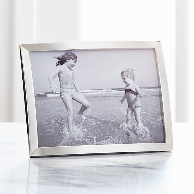 Eliza Silver 5x7 Picture Frame + Reviews | Crate and Barrel
