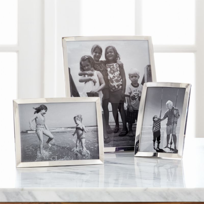 Eliza Silver Picture Frames | Crate and Barrel