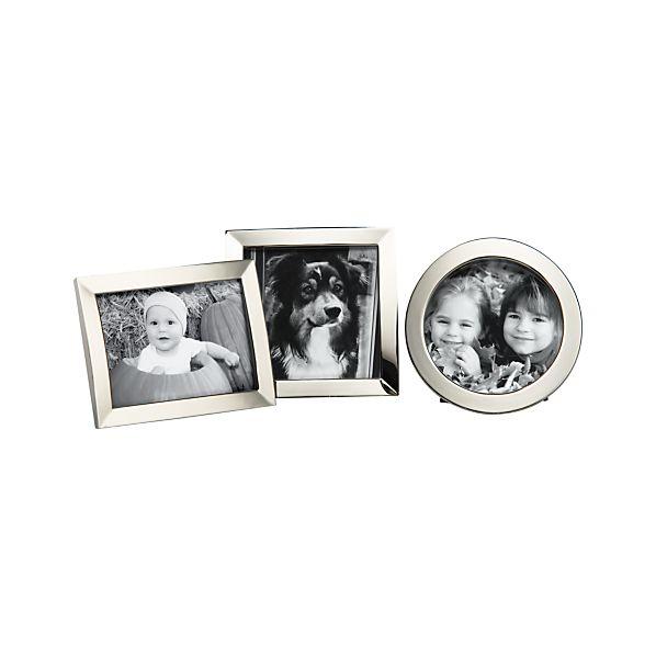 "Set of 3 Eliza 2.5x3/3""dia./2.75""x2.75"" Mini Frames"