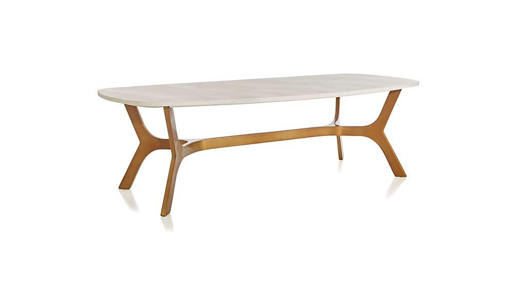 Elke Rectangular Marble Coffee Table