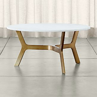 Elke Round Marble Coffee Table