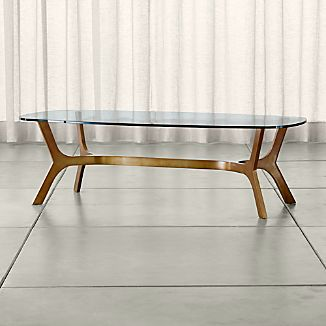 Elke Rectangular Glass Coffee Table