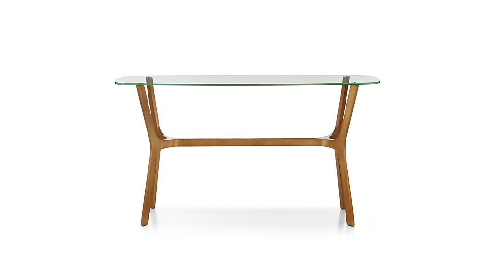 Elke Glass Console Table Crate And Barrel