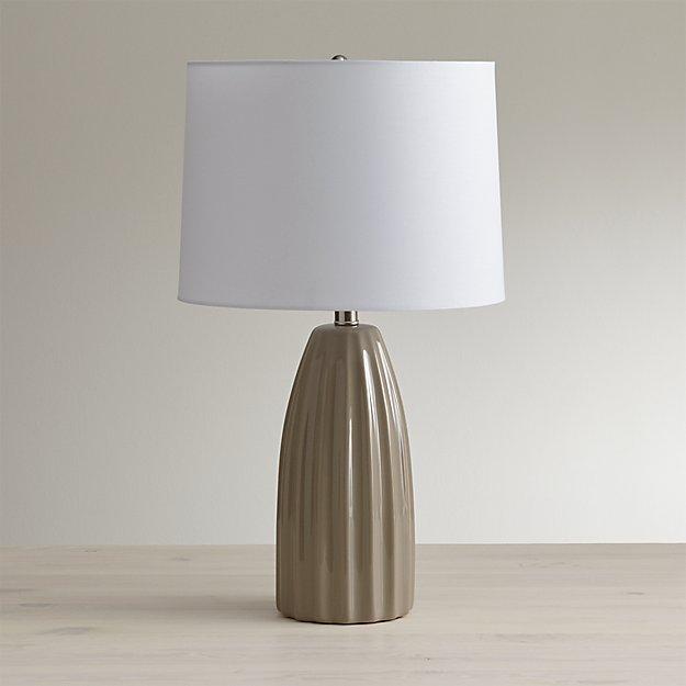 Ella grey table lamp reviews crate and barrel