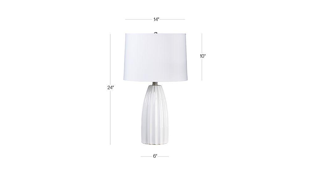Ella White Ceramic Table Lamp Crate And Barrel