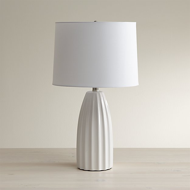 ella white ceramic table lamp crate and barrel. Black Bedroom Furniture Sets. Home Design Ideas