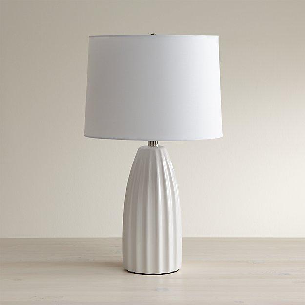 Ella White Ceramic Table Lamp Reviews Crate And Barrel