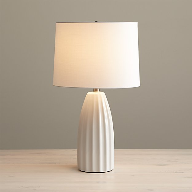 Ella White Ceramic Table Lamp Crate And Barrel