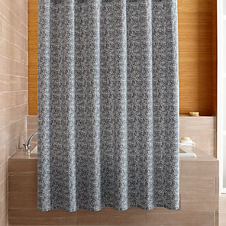 Ellio Organic Blue Shower Curtain