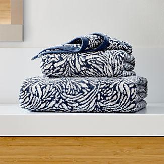 Ellio 550-Gram Organic Blue Bath Towels