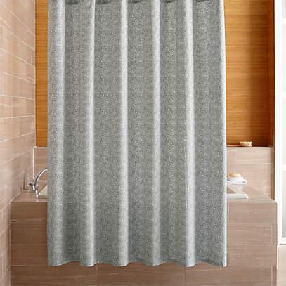Ellio Organic Grey Shower Curtain