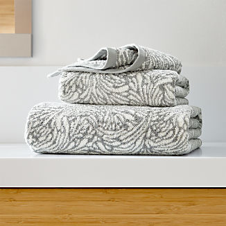 Ellio 550-Gram Organic Grey Bath Towels
