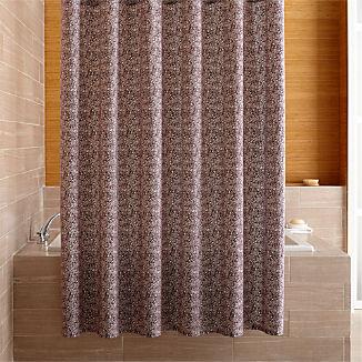 Ellio Organic Plum Shower Curtain