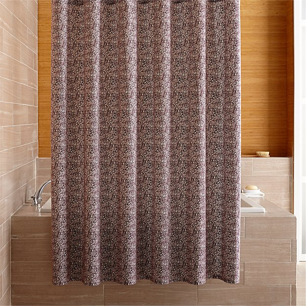 Ellio Organic Plum Shower Curtain - Image 1 of 6