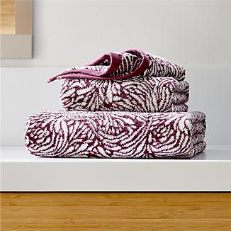 Ellio 550-Gram Organic Plum Bath Towels