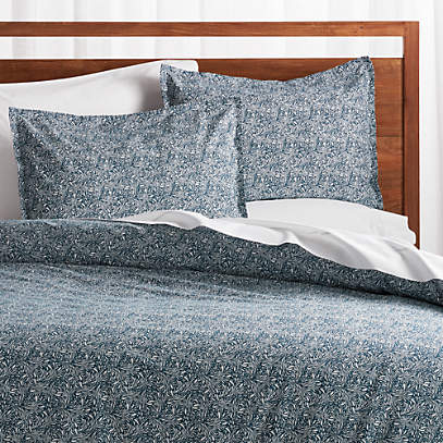 Ellio Blue Organic Duvet Covers And, Crate And Barrel Bedding Reviews