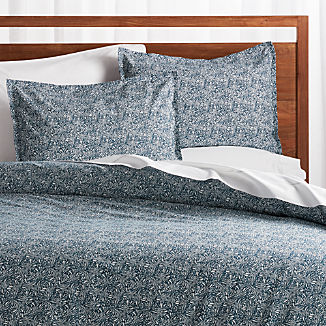Ellio Blue Organic Duvet Covers and Pillow Shams