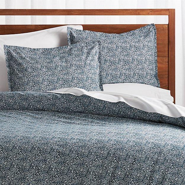 Ellio Blue Organic Duvet Covers and Pillow Shams - Image 1 of 4
