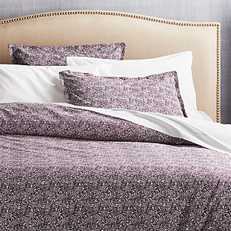 Ellio Plum Organic Duvet Covers and Pillow Shams