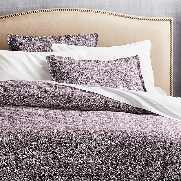 Ellio Plum Organic Duvet Covers and Pillow Shams - Image 1 of 4