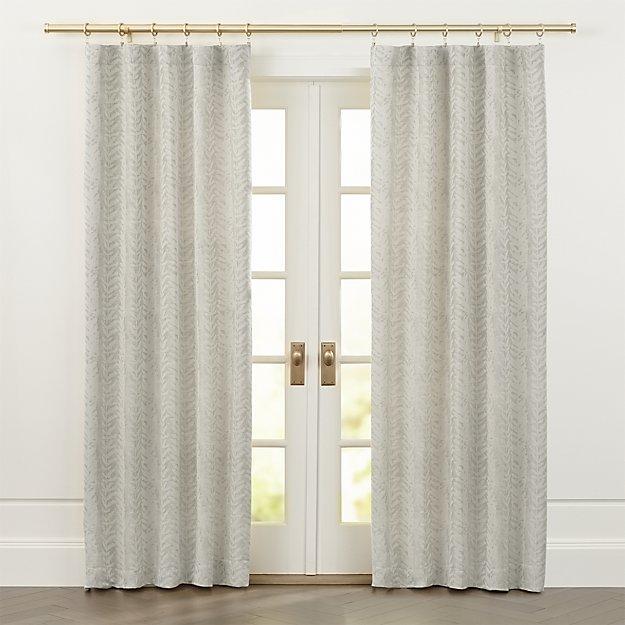 Ellis Leaf Pattern Curtains - Image 1 of 7