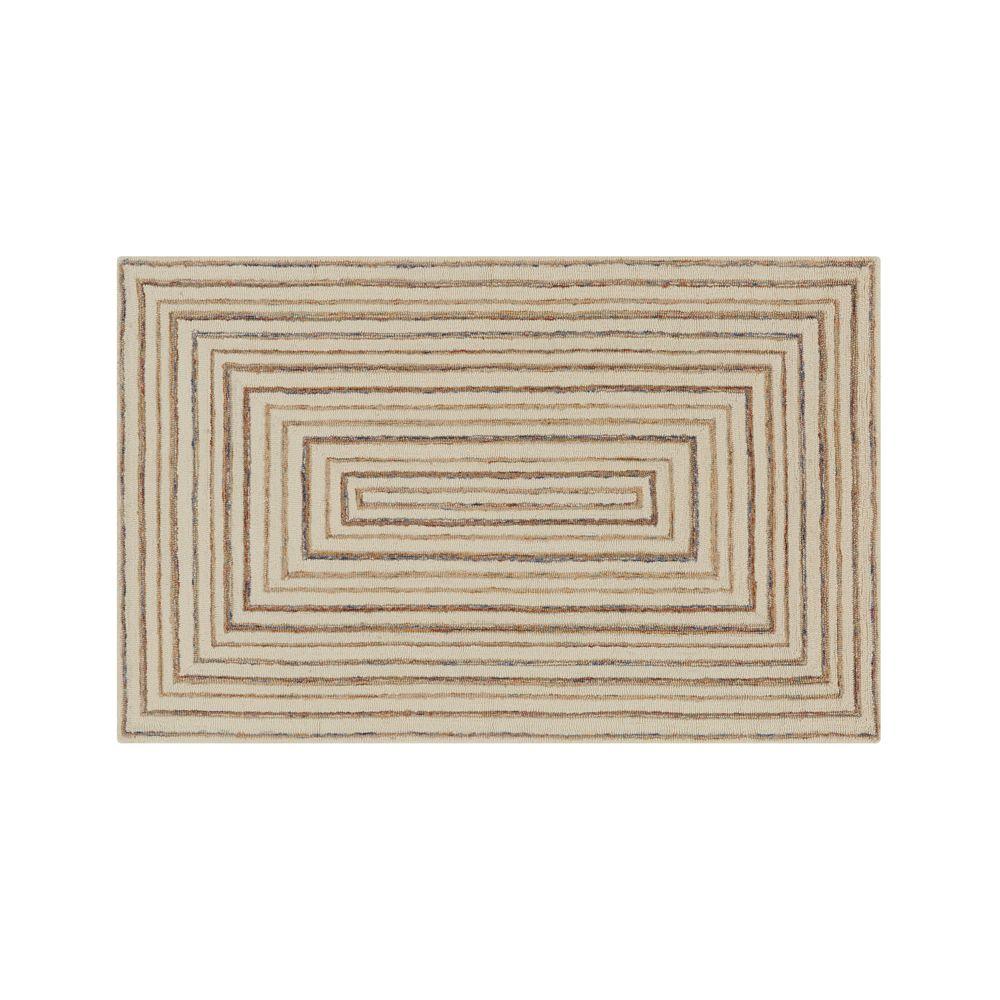 Ellwood Wool-Blend 5'x8' Rug - Crate and Barrel