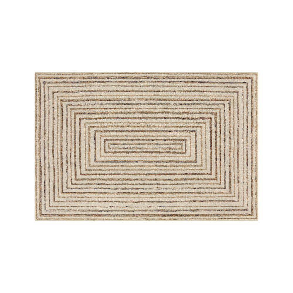Ellwood Wool-Blend 6'x9' Rug - Crate and Barrel