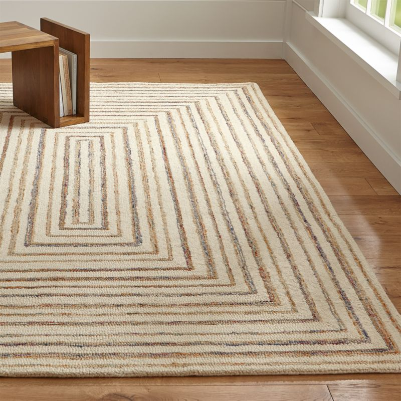 Ellwood Wool Blend Loop Rug Crate And Barrel