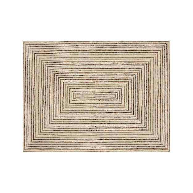 Wool Loop Rug: Ellwood Wool-Blend Loop Rug 9'x12'