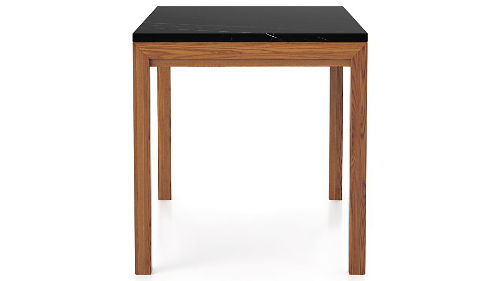 Parsons Black Marble Top/ Elm Base 48x28 High Dining Table