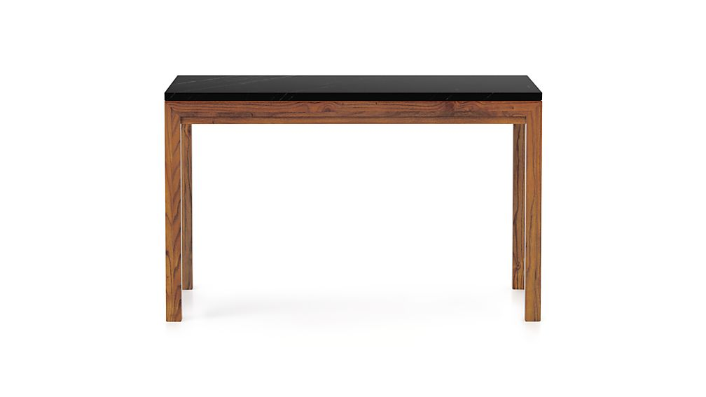 Parsons Black Marble Top/Elm Base 72x42 Dining Table