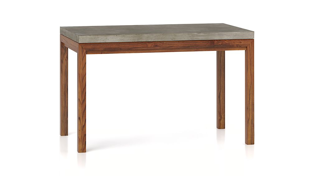 Parsons Concrete Top/ Elm Base 48x28 Dining Table