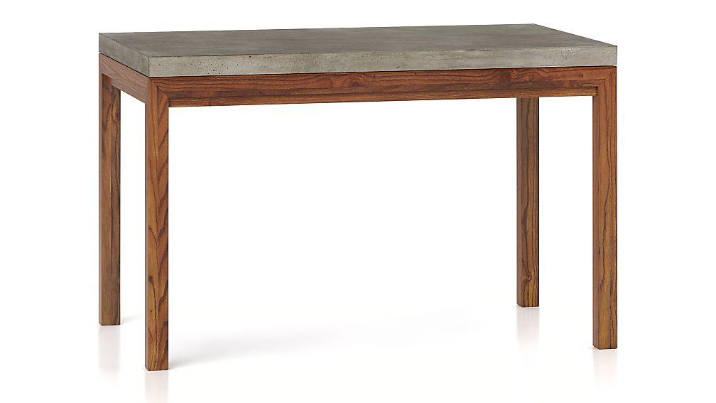 Parsons Concrete Top/ Elm Base 48x28 Dining Table