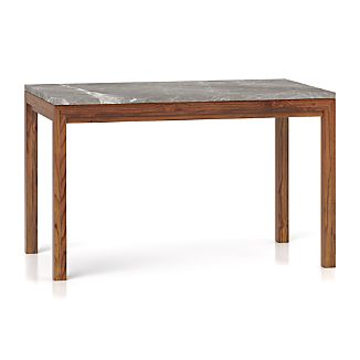 Parsons Grey Marble Top/ Elm Base 48x28 Dining Table